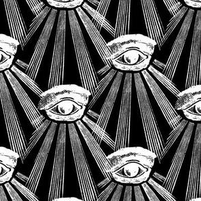 All Seeing Eyes BW