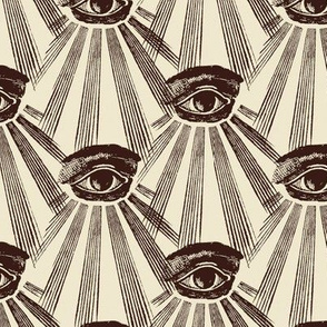 All Seeing Eyes Sepia
