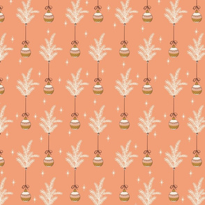 Ribbon Ornaments - Small - Peach, Cream
