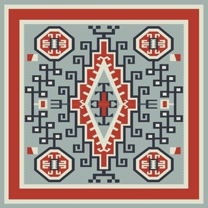 1920s Crystal NM Navajo Style Tribal Rug Pattern