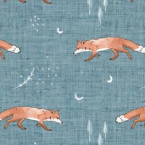 Fox Tales Blue