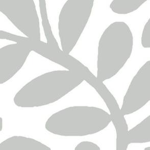 WINDING VINE LEAVES gray jumbo