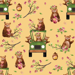 """12"""" Honey Bears in Car 