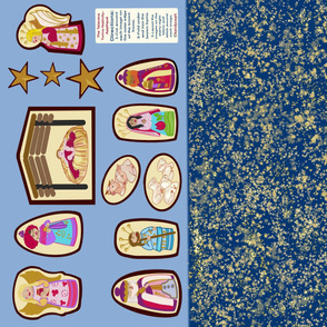 Nativity-Starry Night-Appliqué-The Talavera Twins c