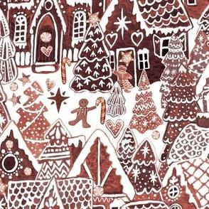 Gingerbread houses, gingerbread village