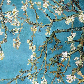 Van Gogh Tea Towel // Blossoming almond tree