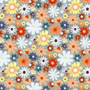 Bohemian Daisy Meadow - Small Scale