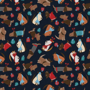 christmas dogs-spoonflower-maebywild