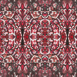 Gothic Halloween blood red Victorian style Wallpaper Fabric