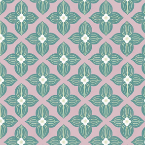 Bunchberry Geometric on Pink