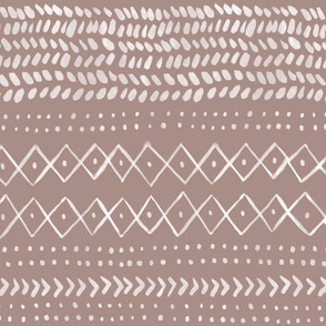 Boho Abstract in Pinkish Brown - large scale
