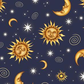 Vintage Celestial Pattern Medium
