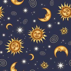 Vintage Celestial Pattern Small