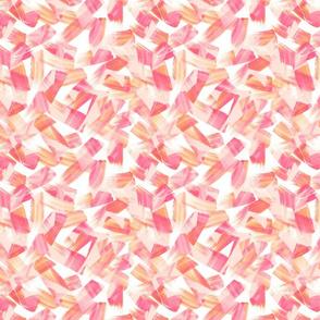 Watercolor brush strokes - peach colors
