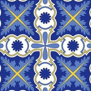 Symmetrical Portuguese Tile Azulejo
