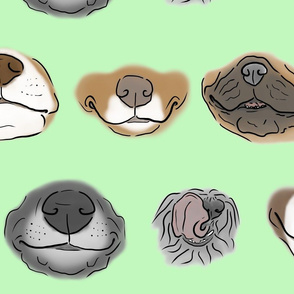 Derpy Doggy faces - green