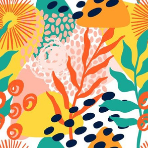 Bright abstract tropic pattern