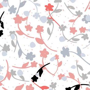 Blossom & Confetti in White