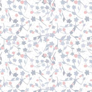 Soft blue blossoms