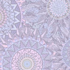 Circles of Triangles II Purple L