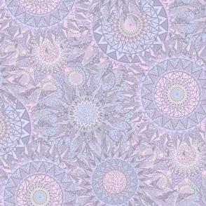 Circles of Triangles II Purple M