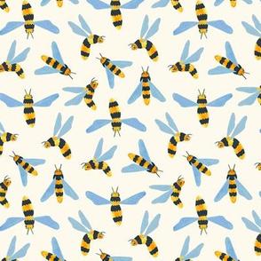 Friendly Gouache Bees - Scandi - Small Version
