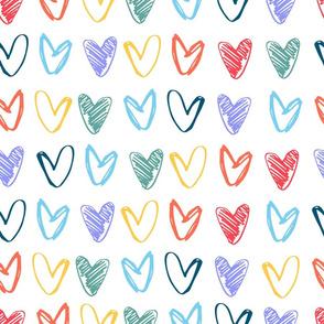 Hearts multicolored