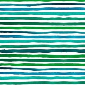 "Stripes 1 (12"") - blue/green"