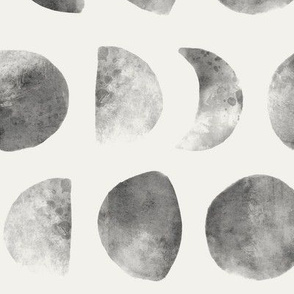 Moon phases in Gray & Cream - large scale