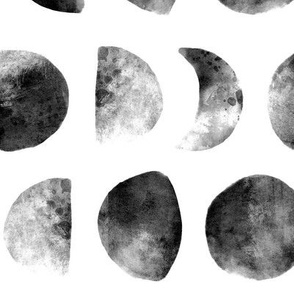 Moon phases in Black & White - large scale