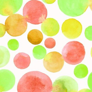 abstract watercolor bubbles