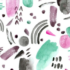 watercolor abstract pattern