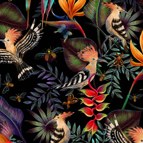 Animalier Hoopoes and Bee Eaters - 25 inches large