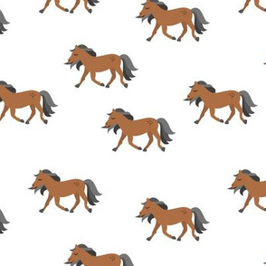 Hold your horses little wild horse western ranch cowboy theme kids copper rust gray neutral