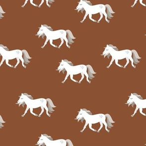 Hold your horses little wild horse western ranch cowboy theme kids copper brown white gray neutral