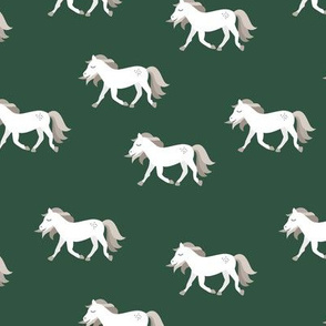 Hold your horses little wild horse western ranch cowboy theme kids copper white forest green