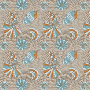 Mosaique de coquillages