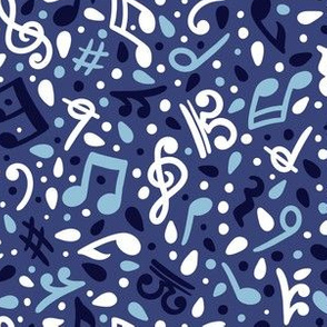 Music notes - blues - small scale