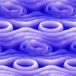wave abstraction neon purple PSMGE