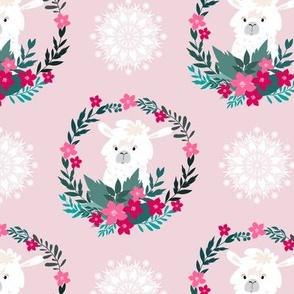 Christmas lama pattern1