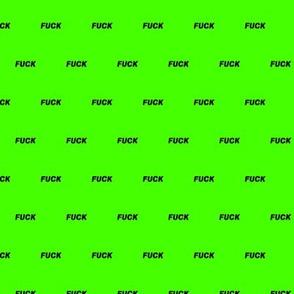 Fluo Fuck Green