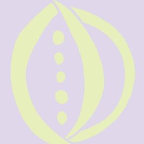 Onion & Peas (Light lime & Lilac)