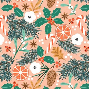 Christmas Joy orange small