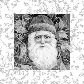 Christmas St Nick in Black & White
