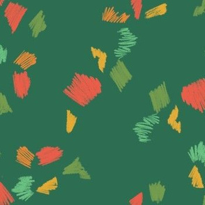 holiday pencil scribbles green