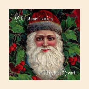 Vintage St Nick, classic colors Christmas