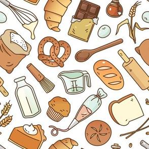 Bakery Essentials Pattern, Medium Scale
