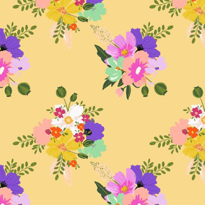 boho chic floral 1 yellow