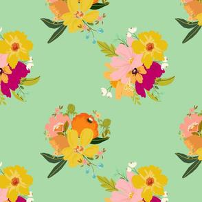 boho chic floral 2 green terriconraddesigns
