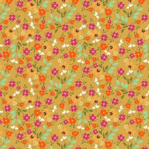 garden ditsy flowers terriconraddesigns
